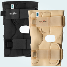 The knee brace is available in Black and Beige.